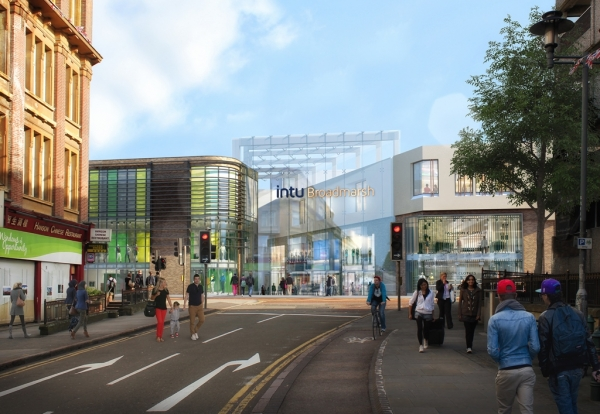 Intu says main works to transform the intu Broadmarsh centre will begin in the second half of this year