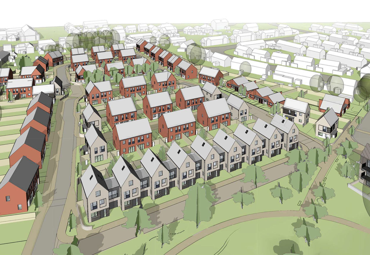 Artist's impression of the housing at the Lowfield School site