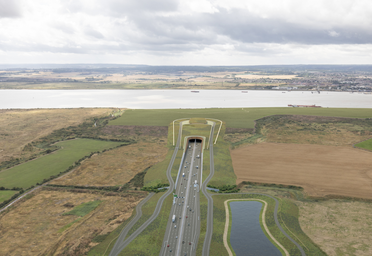 Proposed northern tunnel entrance approach