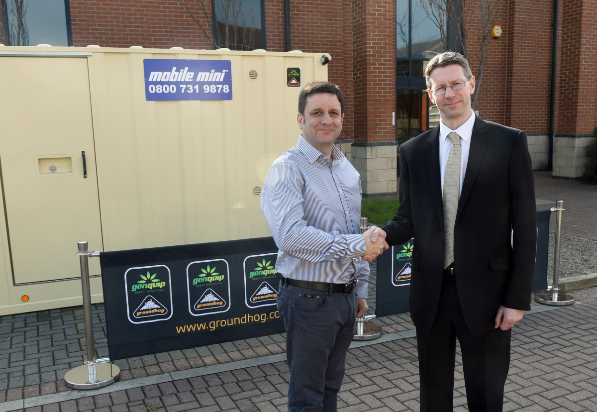 Peter Beach, Genquip Groundhog Sales & Marketing Manager  and Chris Morgan, Managing Director at Mobile Mini