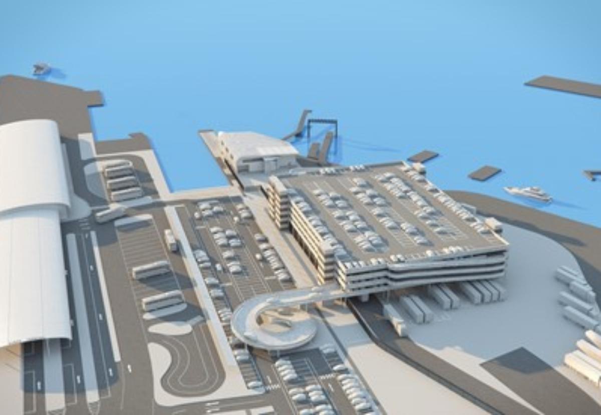 £35m terminal will be built at the Trafalgar Dock