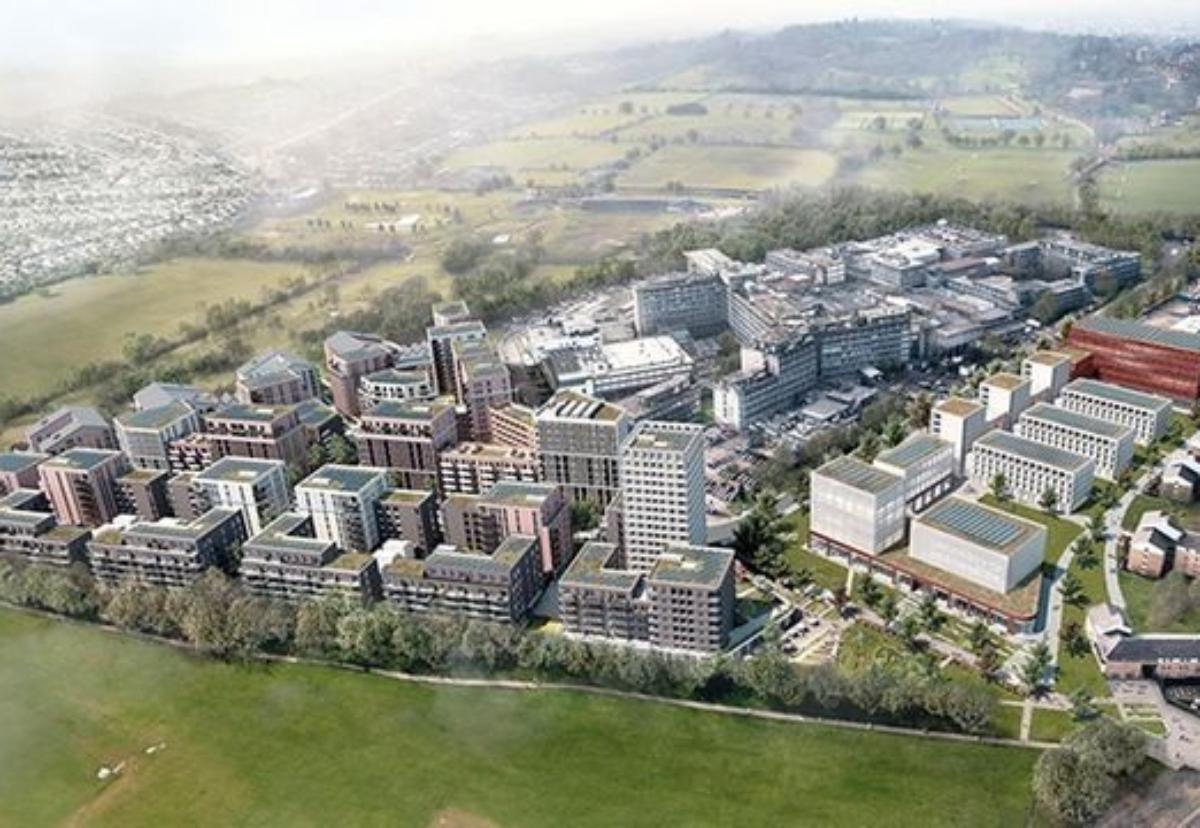 Planned regeneration scheme of Northwich Hospital site in Brent