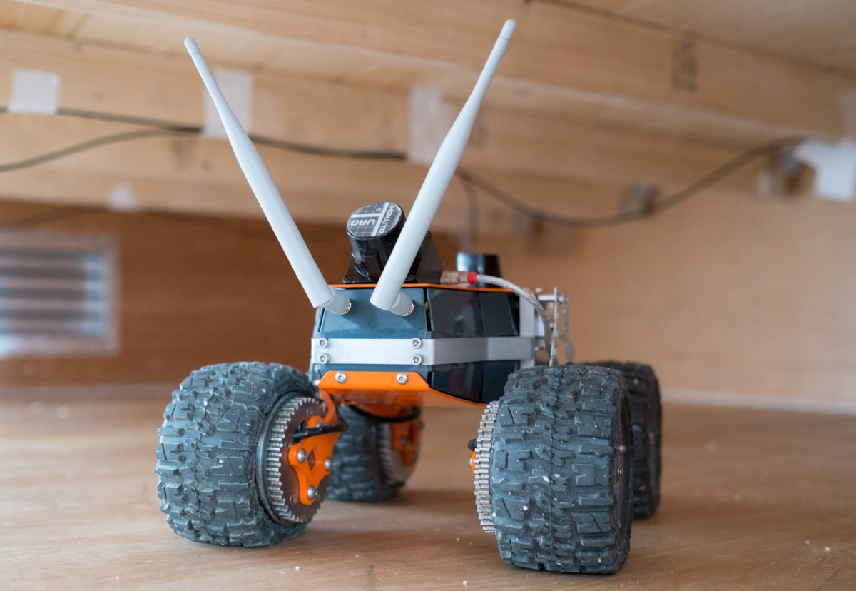 The Q-Bot works in confined spaces