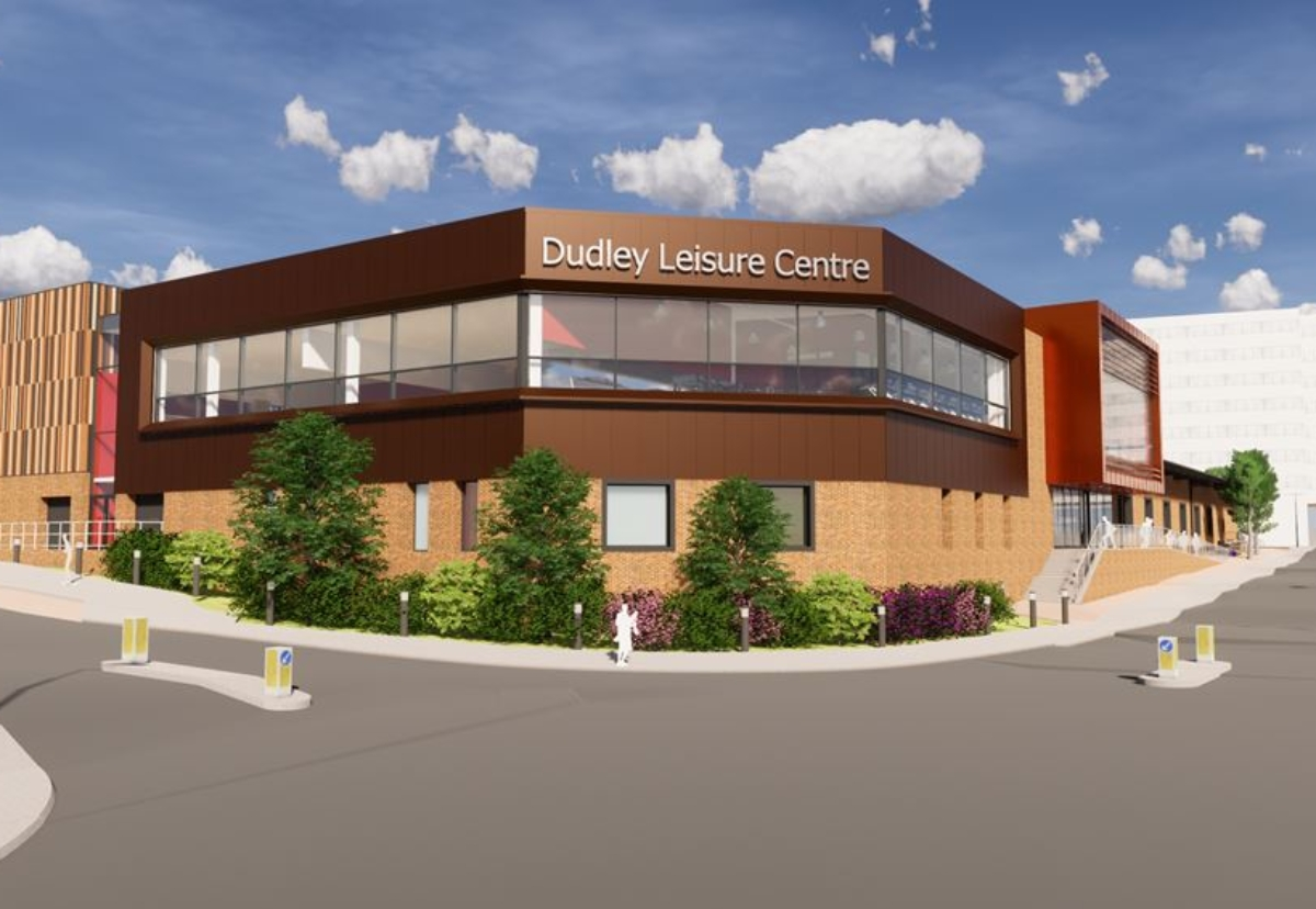 Planned  new Dudley Leisure Centre in Flood Street