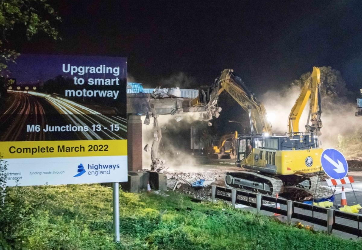 Work on the M6 smart motorway