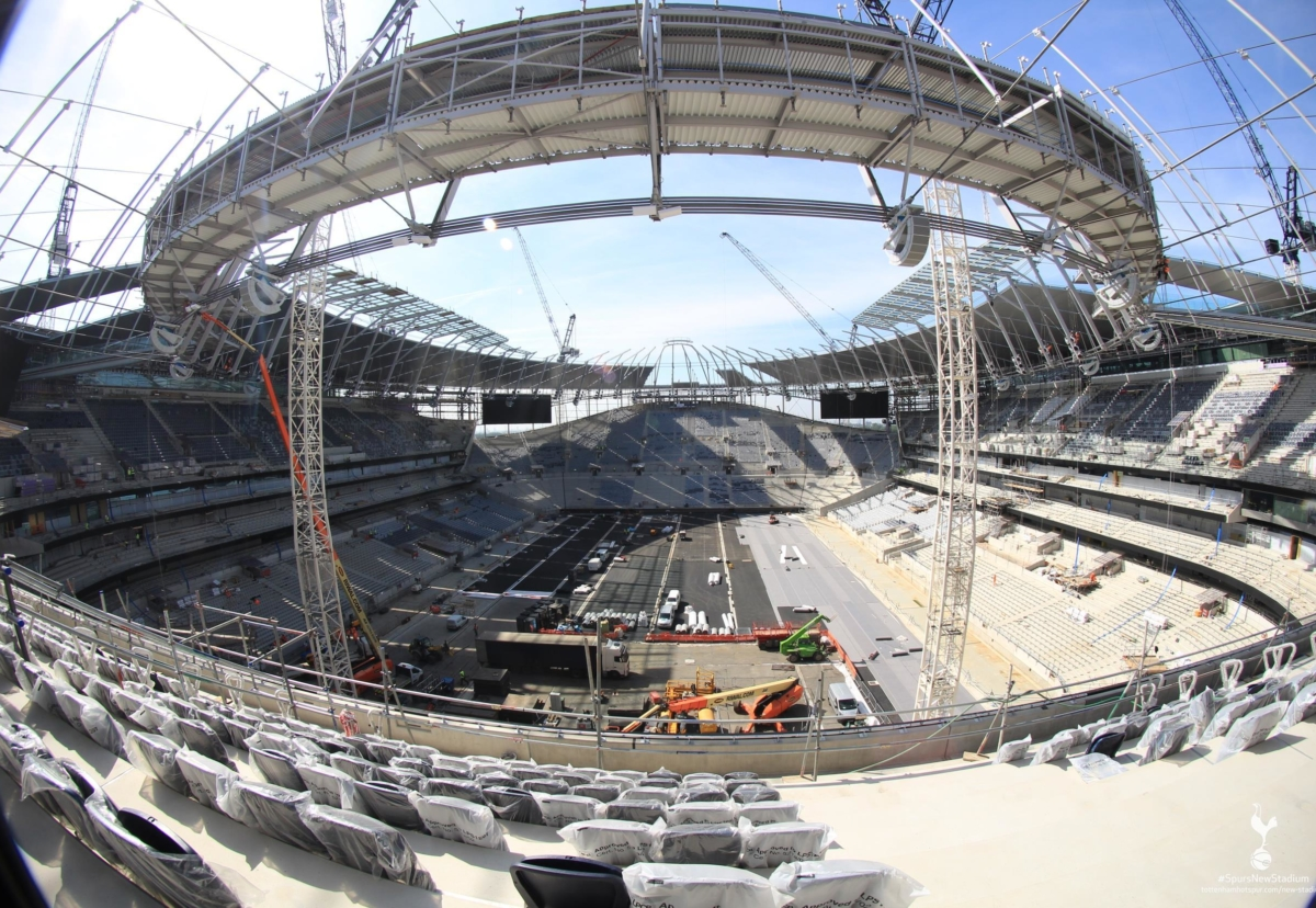 The latest stadium interior shots from the club's live webcam