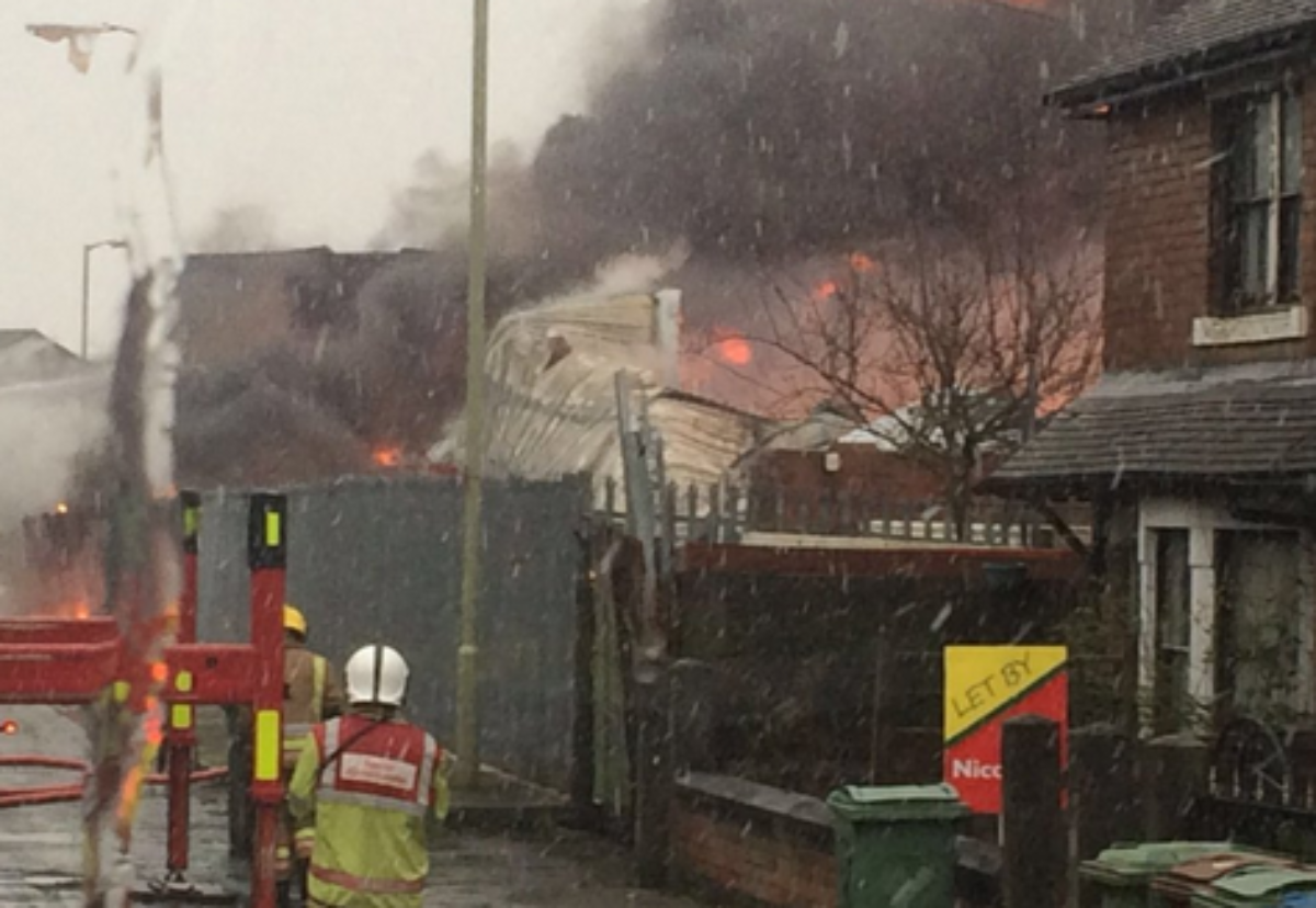 Picture courtesy of Staffordshire Fire and Rescue/Twitter