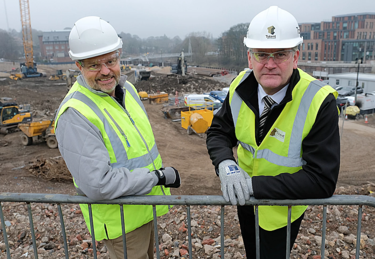 Ian Beamount, Project Director for Milburngate and Andy Mcleod, CEO, Tolent