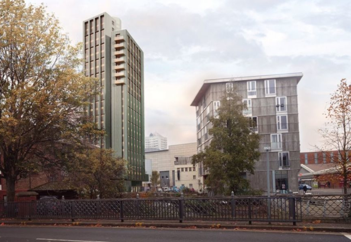 Planned tower of first-time buyer compact flats in Wandsworth